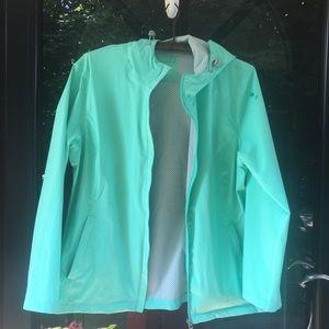 Free Country Rain Jacket Hood Seafoam Green XL
